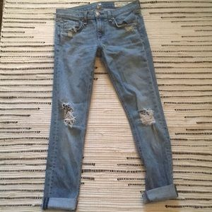 Blue ripped Rag and Bone jeans
